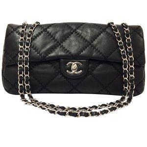 CHANEL Ultra Stitch Classic Leather Black Bag 686c253f99b27